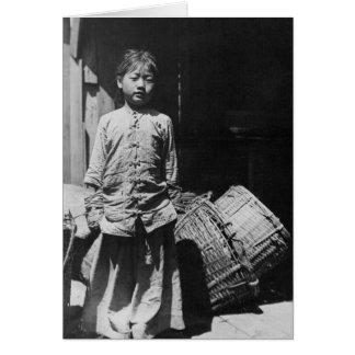 Fish Dealer's Daughter - Vintage Photo Card