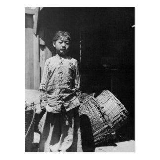 Fish Dealer's Daughter - Vintage Photo Postcard