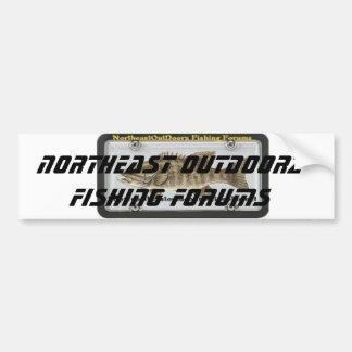 fish-decals-stickers-small-mouth-bass, Northeas... Bumper Sticker