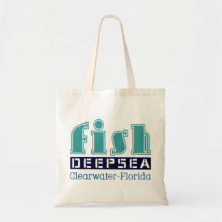 fish, deep, sea, to clearwater, flowery tote bag