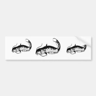 fish design bumper sticker