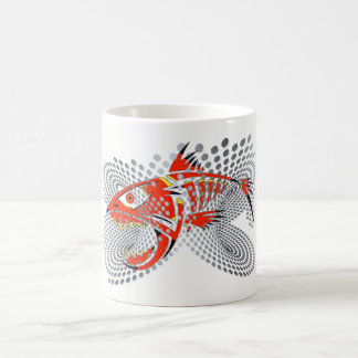 Fish Design on White 11 oz Classic Mug
