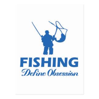 fish design postcard