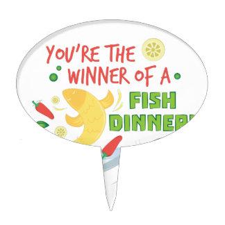 Fish Dinner Cake Topper