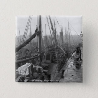 Fish docks, Grimsby, early 20th century Button