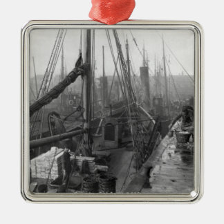 Fish docks, Grimsby, early 20th century Metal Ornament