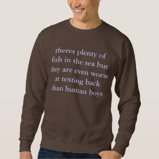 fish don't have thumbs pull over sweatshirts