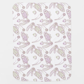 Fish Doodlely 5 - Baby Blanket