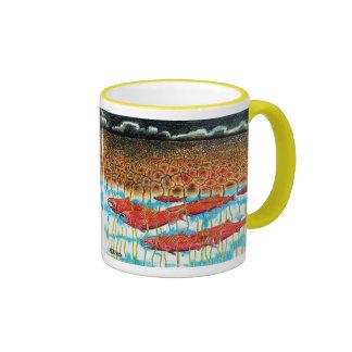 Fish Dream Ringer Coffee Mug