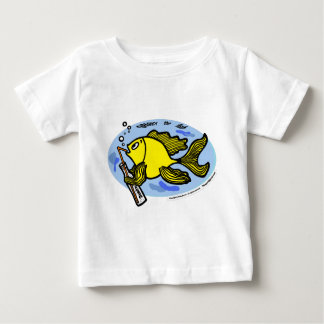 Fish drinking water - cute funny baby t-shirt