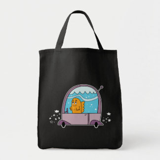 Fish Driving a Car - Grocery Tote Grocery Tote Bag
