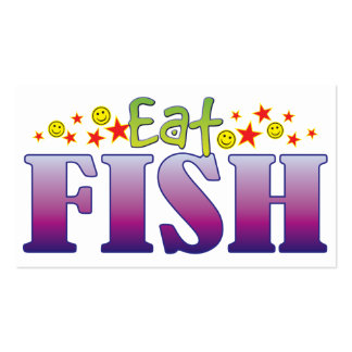 Fish Eat Double-Sided Standard Business Cards (Pack Of 100)
