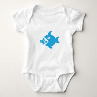 fish eat fish baby bodysuit