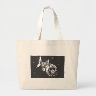 Fish Eating Earth Large Tote Bag