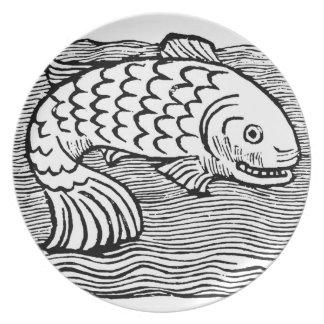 Fish Engraving Plate Renaissance