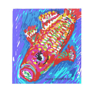 Fish Expressionism Mod Art Notepad