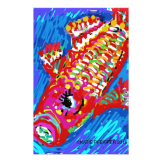 Fish Expressionism Mod Art Stationery