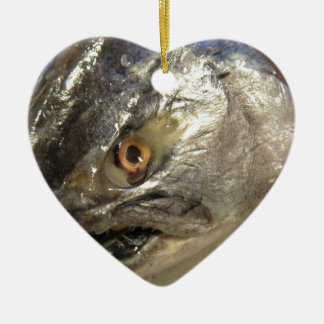 Fish eye ceramic ornament