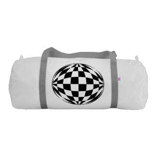 Fish-eye grid duffle bag