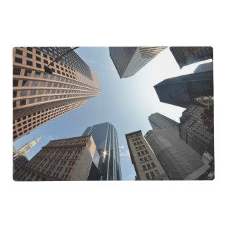 Fish-eye lens of building, Boston, US Placemat