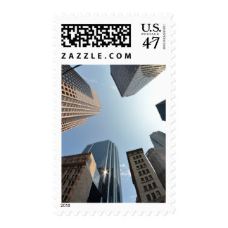 Fish-eye lens of building, Boston, US Postage