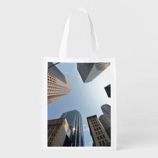 Fish-eye lens of building, Boston, US Market Tote