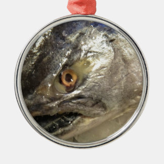Fish eye metal ornament