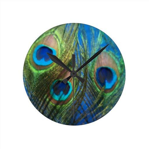 Fish Eye Peacock Still Life Clocks