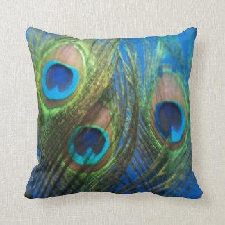 Fish Eye Peacock Still Life Throw Pillows