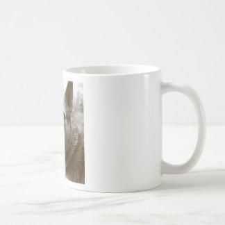 fish eye portrait coffee mug