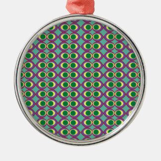 Fish_eye_purple Metal Ornament