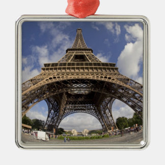 Fish eye shot of Eiffel tower Metal Ornament