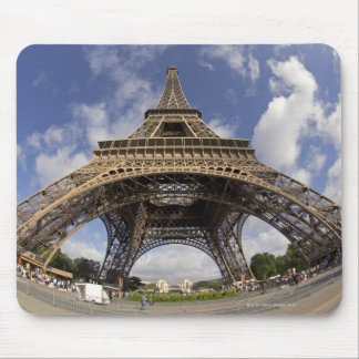 Fish eye shot of Eiffel tower Mouse Pad
