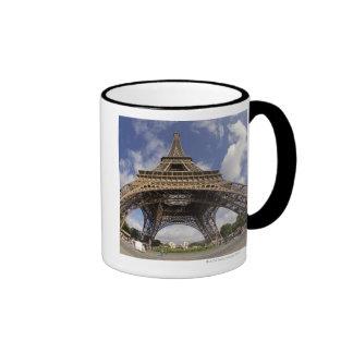 Fish eye shot of Eiffel tower Mugs