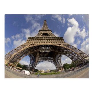 Fish eye shot of Eiffel tower Postcard