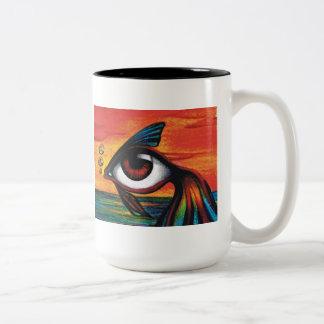 Fish Eye Two-Tone Coffee Mug