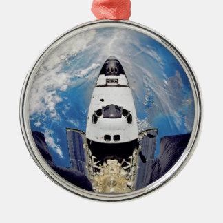 Fish-Eye View of Shuttle Atlantis Metal Ornament
