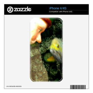 Fish Face gnome iPhone 4 Decal