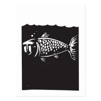 Fish Face Postcard