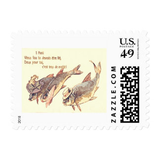 Fish Family April Fools' Day Postage