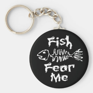 Fish Fear Me Basic Round Button Keychain