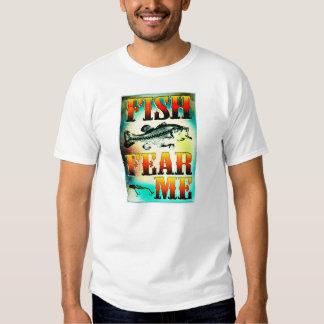 Fish Fear Me FIshing Clothing Tee Shirt