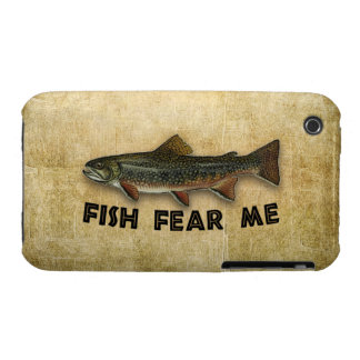 Fish Fear Me Funny Fishing Case-Mate iPhone 3 Cases