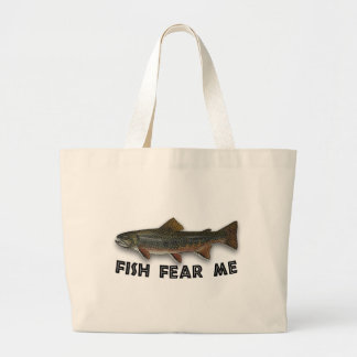 Fish Fear Me Funny Fishing Sports Canvas Bag