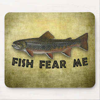 Fish Fear Me Funny Fishing Sports Mouse Pad