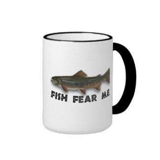 Fish Fear Me Funny Fishing Sports Ringer Coffee Mug
