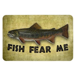 Fish Fear Me Funny Fishing Sports Rectangular Magnet