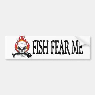 Fish Fear Me Pirate Bumper Sticker
