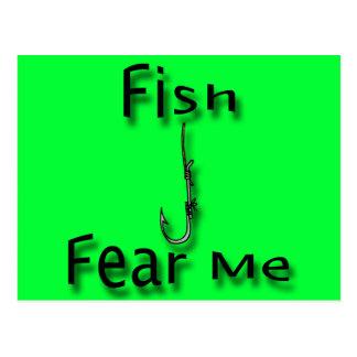 Fish Fear Me Postcard