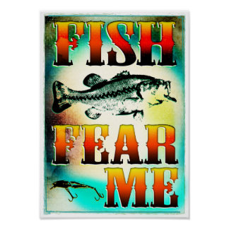 Fish Fear Me Poster